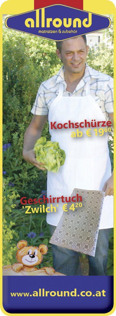 Kochschürze Geschirrtuch Allround Matratzen und Zubehör Rohrbach-Berg